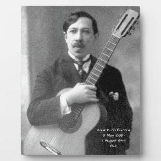 Agustín Pio Barrios, 1922 Plaque