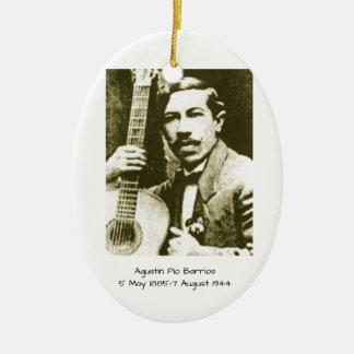 Agustin Pio Barrios Ceramic Ornament
