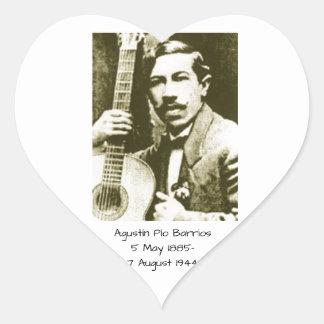 Agustin Pio Barrios Heart Sticker