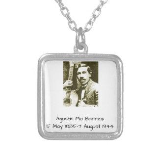 Agustin Pio Barrios Silver Plated Necklace