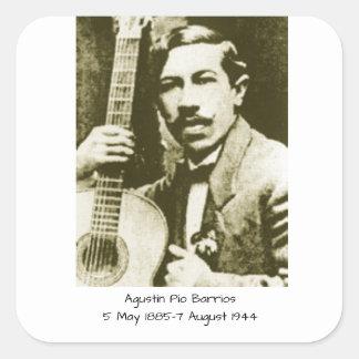 Agustin Pio Barrios Square Sticker