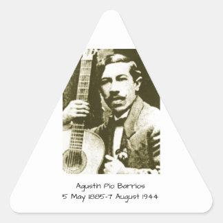 Agustin Pio Barrios Triangle Sticker