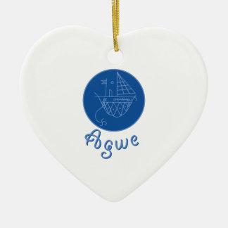 Agwe Veve Ceramic Heart Ornament
