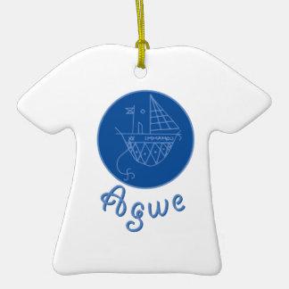 Agwe Veve Ceramic T-Shirt Ornament