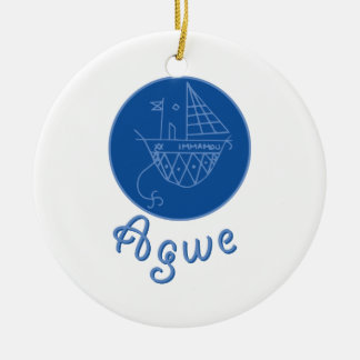 Agwe Veve Double-Sided Ceramic Round Christmas Ornament