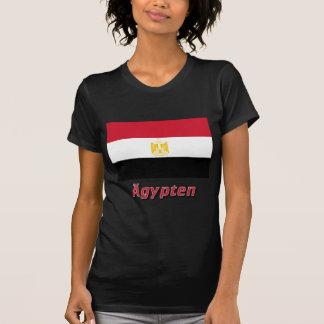 Ägypten Flagge mit deutschem Namen T Shirts