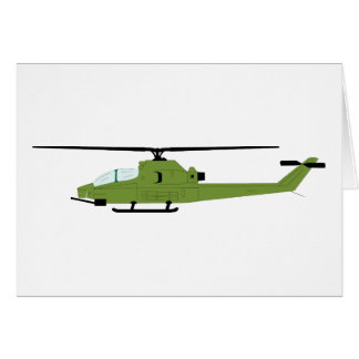 AH-1 Cobra Silhouette Greeting Card