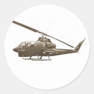 AH-1 cobra Classic Round Sticker