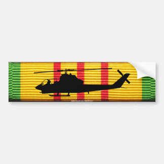 AH-1G Cobra on VSM Ribbon Bumper Sticker