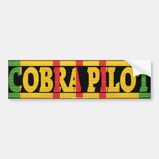 AH-1G Cobra Pilot VSM Bumper Sticker Car Bumper Sticker