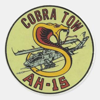 AH-1S COBRA TOW DECAL ROUND STICKER