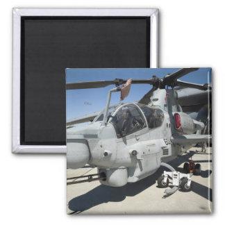 AH-1Z Super Cobra attack helicopter Square Magnet