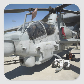 AH-1Z Super Cobra attack helicopter Square Sticker