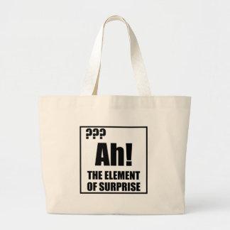 Ah Element Of Surprise Large Tote Bag