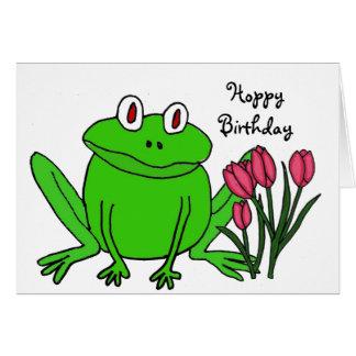 AH- Funny Frog Birthday Card