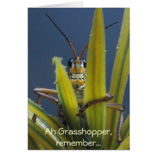 Ah Grasshopper ~ Funny Happy Birthday Card