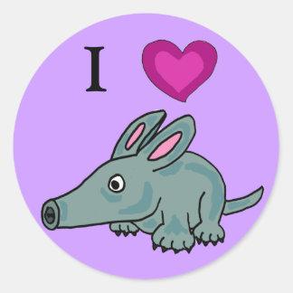 AH- I love Aardvarks Stickers