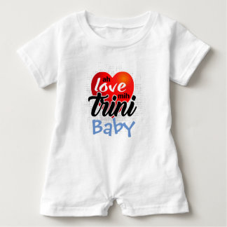Ah Love mih Trini (your text)! 4 lite Baby Bodysuit