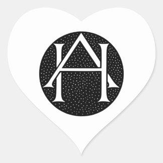 AH Monogram Heart Sticker
