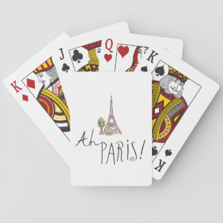 Ah Paris! Quote | With Effiel Tower Playing Cards