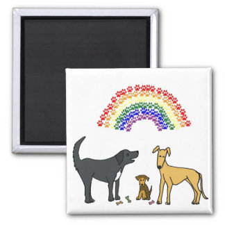 AH- Pups and Rainbow magnet