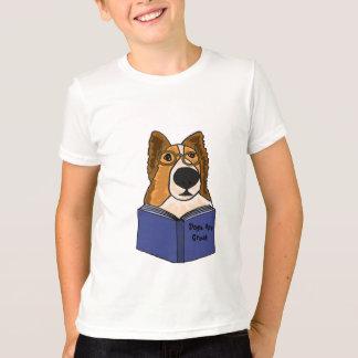 AH- Sheltie Dog Reading a Book Shirt