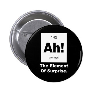 Ah! The element of Surprise 6 Cm Round Badge