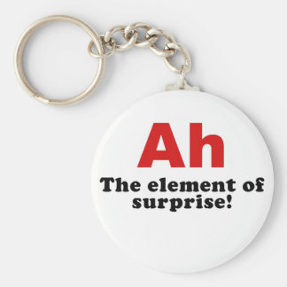Ah the Element of Surprise Basic Round Button Key Ring