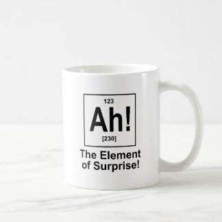 Ah! The Element of Surprise. Basic White Mug