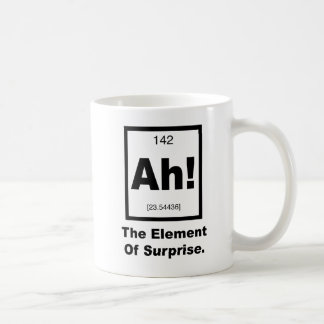 Ah! The element of Surprise Basic White Mug