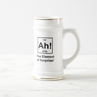 Ah! The Element of Surprise Beer Steins