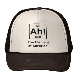 Ah! The Element of Surprise Hats