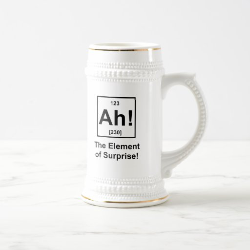 Ah! The Element of Surprise Coffee Mug