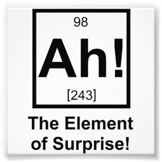 Ah the Element of Surprise Periodic Element Symbol Art Photo