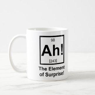 Ah the Element of Surprise Periodic Element Symbol Basic White Mug