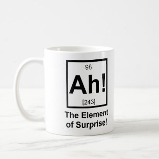 Ah the Element of Surprise Periodic Element Symbol Coffee Mug