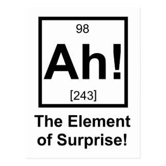 Ah the Element of Surprise Periodic Element Symbol Postcard