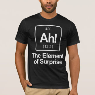 Ah! The Element of Surprise Periodic Table Funny T-Shirt