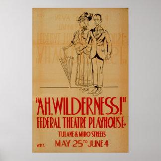 Ah Wilderness WPA Vintage Theatre Poster