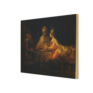 Ahasuerus and Haman at the Feast of Esther Canvas Print