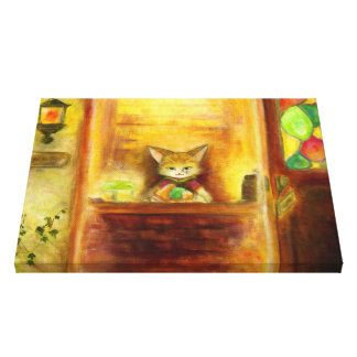 Ahead store canvas print