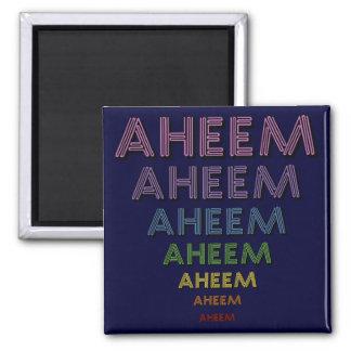 Aheem mantra square magnet