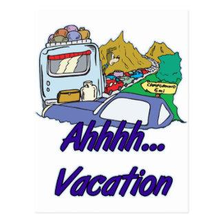 Ahh Vacation Camping Postcard