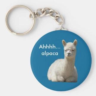 Ahhhh Alpaca Keychain