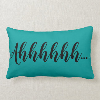 Ahhhhh Teal Solids Lumbar and Throw Pillows