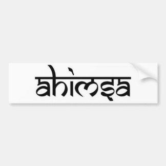 Ahimsa - अहिंसा - Buddhist Tenet Bumper Sticker