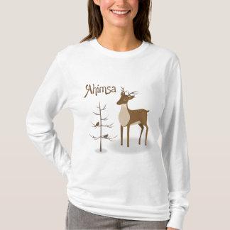 Ahimsa Holiday Reindeer T-Shirt