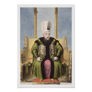 Ahmed I (1590-1617) Sultan 1603-17, from 'A Series Poster