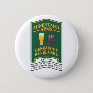 Ahnentafel Arms Genealogy Bar & Grill. 6 Cm Round Badge