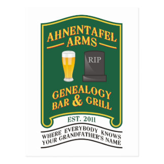Ahnentafel Arms Genealogy Bar & Grill. Postcard